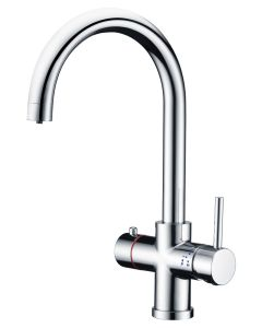 Instant Hot Water 4 in 1 Swan Neck Mixer Tap with Boiler and Filter
