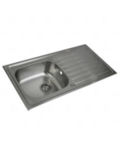 Reversible Single Bowl and Drainer Sink Stainless Steel